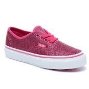 Vans Shoes - Van Authentic Glitter Rosy kids shoes NIB 795c0f3de